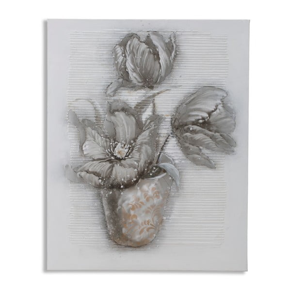 Dipinto Su Tela High Flower kézzel festett kép, 80 x 100 cm - Mauro Ferretti