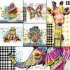 Sada 6 magnetek Eurographics Animals
