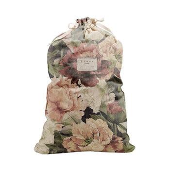 Săculeț textil pentru haine Linen Couture Bag Spring Flowers, înălțime 75 cm imagine