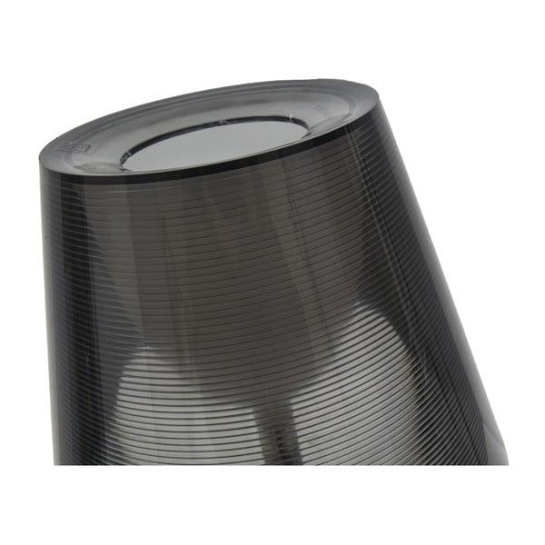 Černá stolní lampa Mauro Ferretti Grigio, 33x43cm