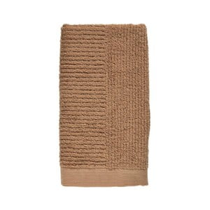 Jantarově hnědý ručník ze 100% bavlny Zone Classic Amber, 50x100cm