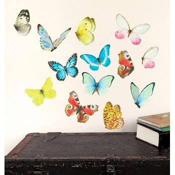 Autocolant refolosibil Watercolor Butterflies 40x30 cm