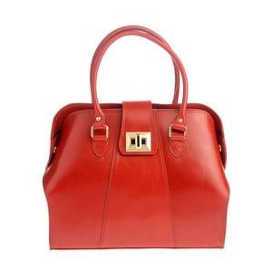 Červená kožená kabelka Tina Panicucci Profa