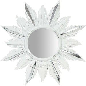 Bílé nástěnné zrcadlo Biscottini Petal