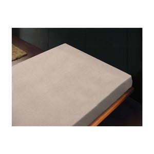 Neelastické prostěradlo Liso Crema, 180x260 cm