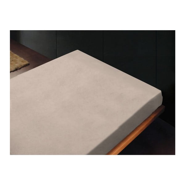 Neelastické prostěradlo Liso Crema, 240x260 cm