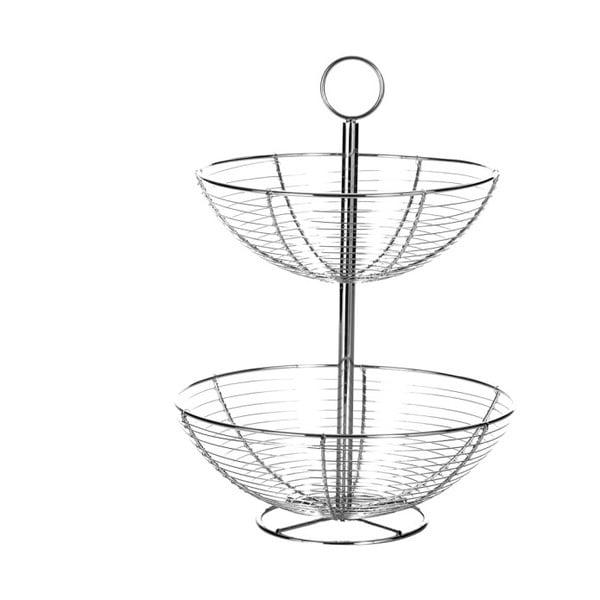 Dvoupatrový stojan z kovu Unimasa Baker, výška 41 cm