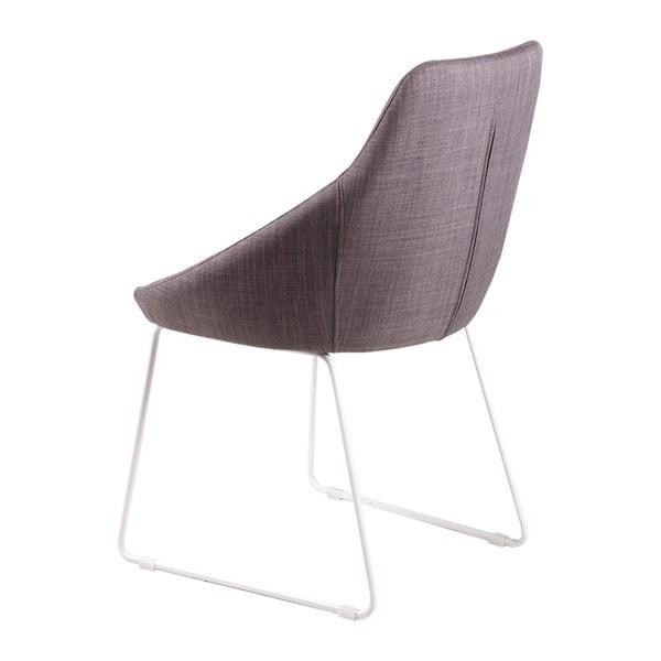 Sada 2 světle šedých jídelních židlí sømcasa Alba
