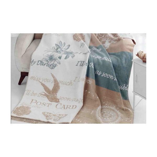Deka s příměsí bavlny Aksu Alexa Lil, 200 x 150 cm