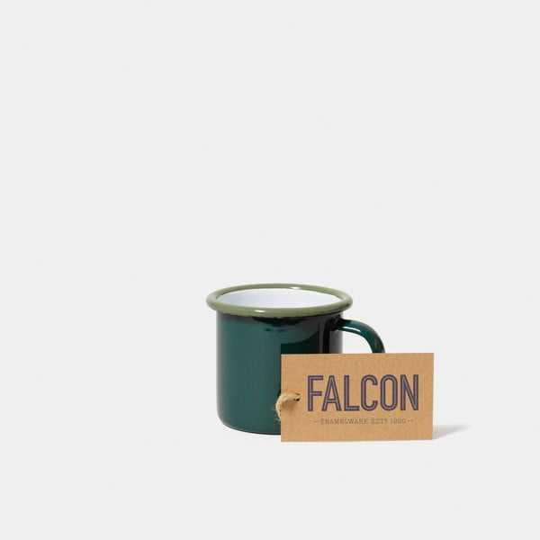 Ceașcă smălțuită pentru espresso Falcon Enamelware, 160 ml, verde închis