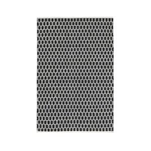 Černo-bílý oboustranný koberec vhodný i do exteriéru Green Decore Aria, 140 x 200 cm
