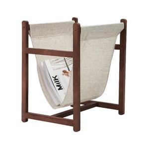 Odkládací stojan na časopisy Linen Couture Natural, šířka 40 cm