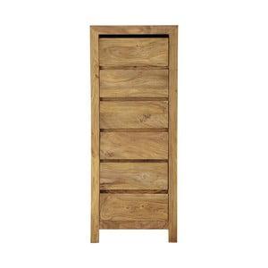 Comodă îngustă din lemn de palisandru cu 6 sertare Massive Home Heri