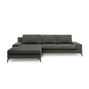 Canapea extensibilă de colț Windsor & Co Sofas Planet, pe partea stângă, gri închis de la Windsor & Co Sofas