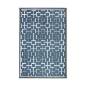 Modrý koberec vhodný i na ven Botany, 115x165cm