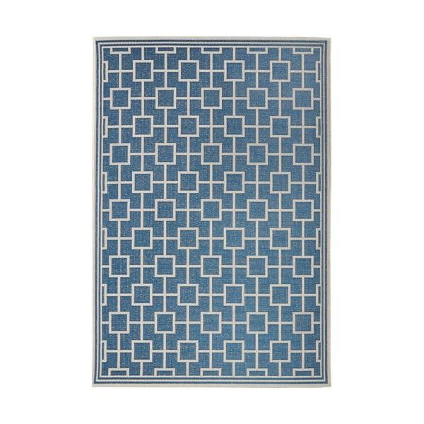 Koberec vhodný i na ven Botany 160x230 cm, modrý