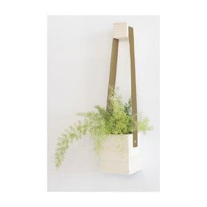 Hnědý květináč z jedlového dřeva Surdic Colgante, ⌀ 17 x 62 cm