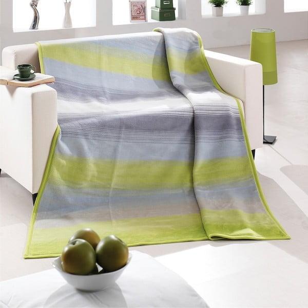 Přehoz Alpino zelenošedý, 150x200 cm