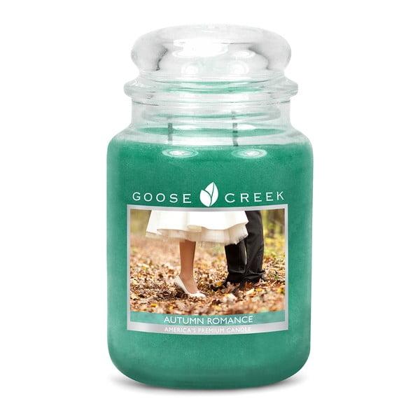 Vonná sviečka v sklenenej dóze Goose Creek Jesenné Romance, 150 hodín horenia