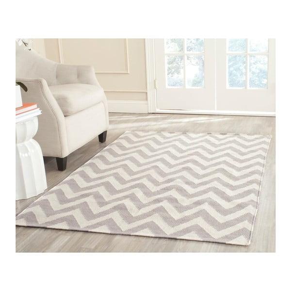 Béžový vlněný ručně tkaný koberec Safavieh Nelli, 152x243cm
