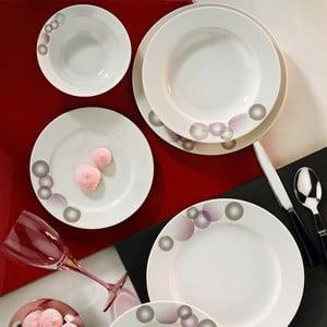 Porcelánový talířový set Abstract, 24 ks