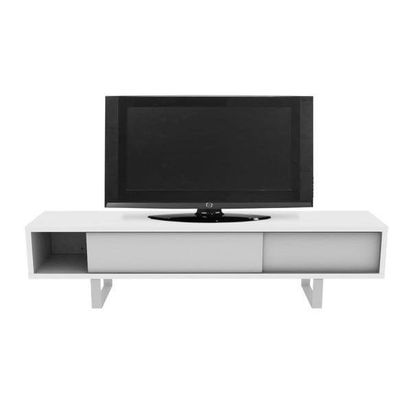 Bílý stolek na televizi TemaHome Slide