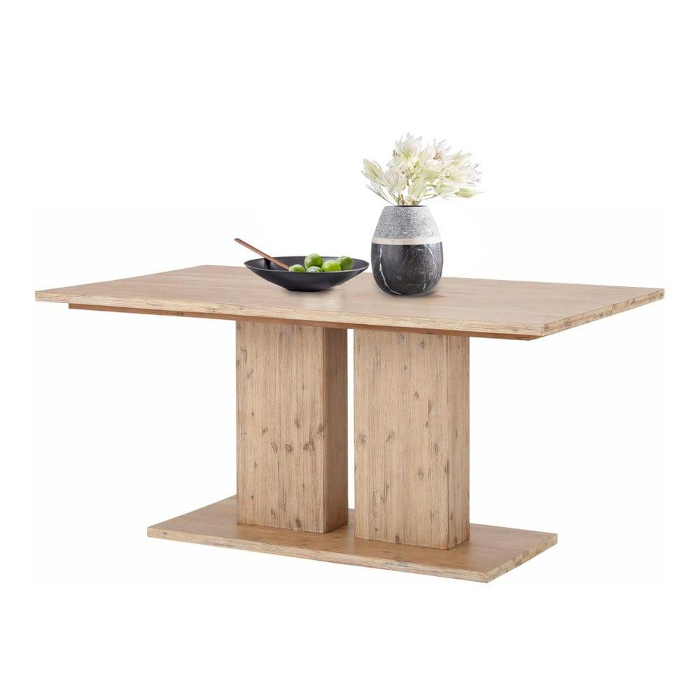 Hnědý jídelní stůl z masivního akáciového dřeva Støraa Yen, 1 x 2 m