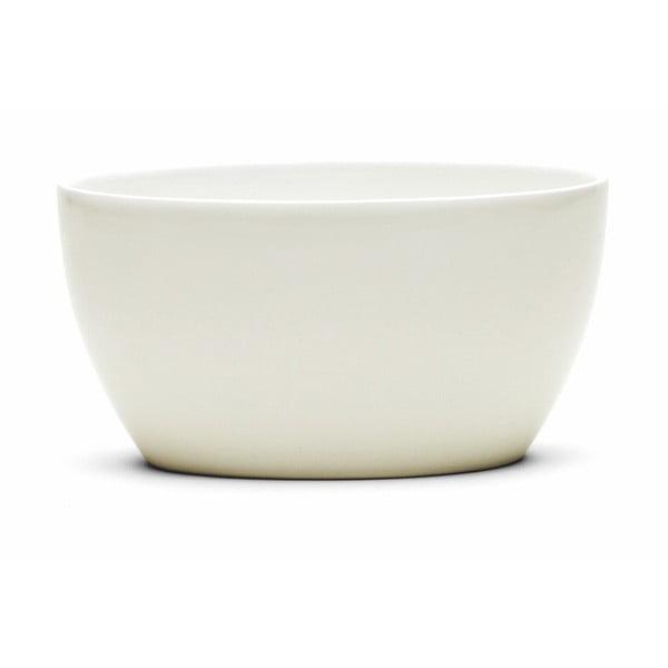 Bol din gresie ceramică Kähler Design Ursula, 17 x 11,5 cm, alb