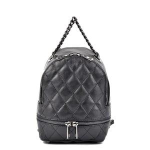 Černý kožený batoh Roberta M Alisso Nero