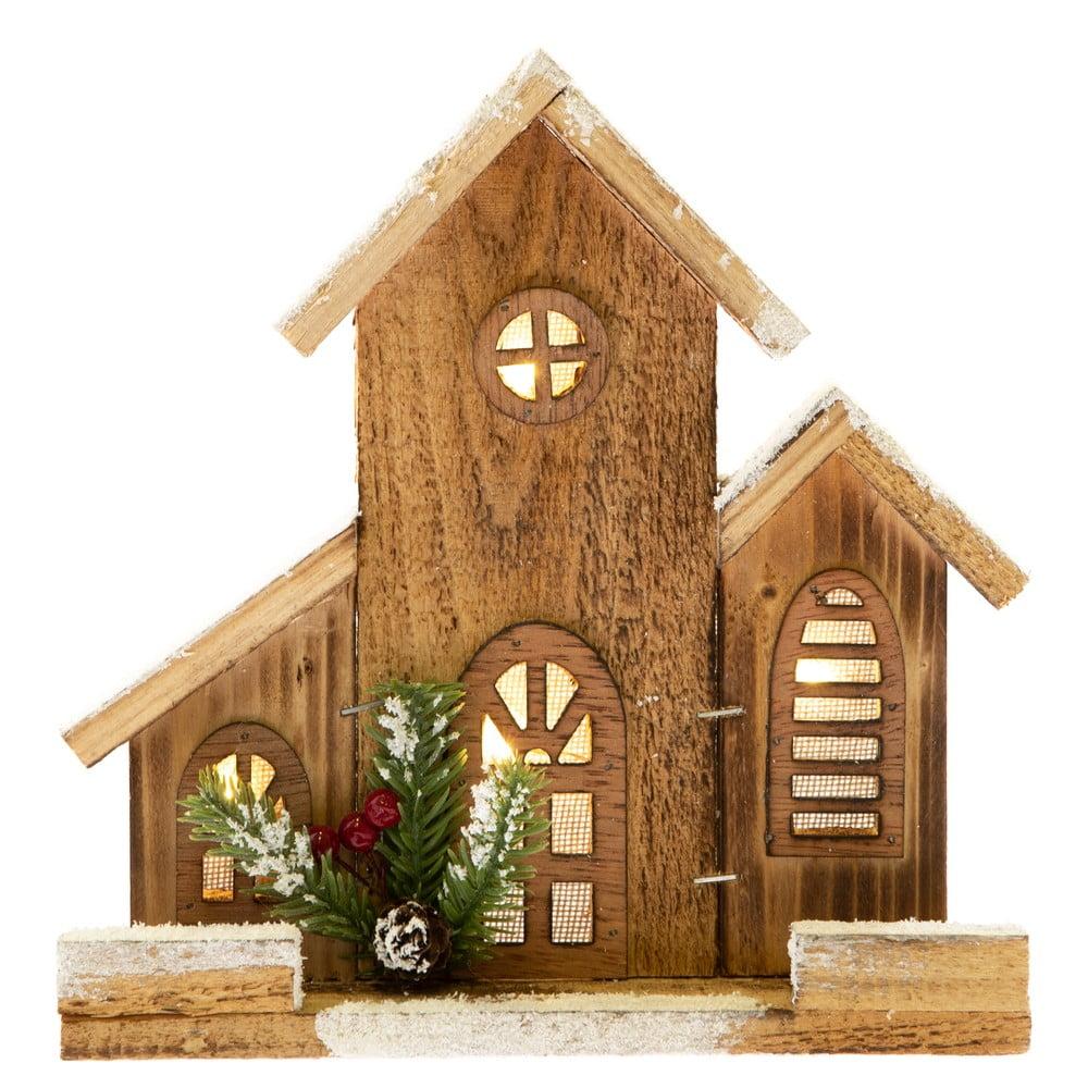 Dekorativní dřevěný domeček se světlem Dakls