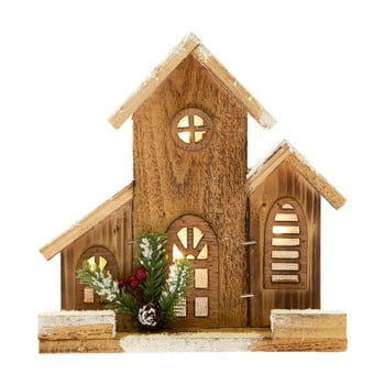 Căsuță decorativă din lemn cu lumină Dakls imagine