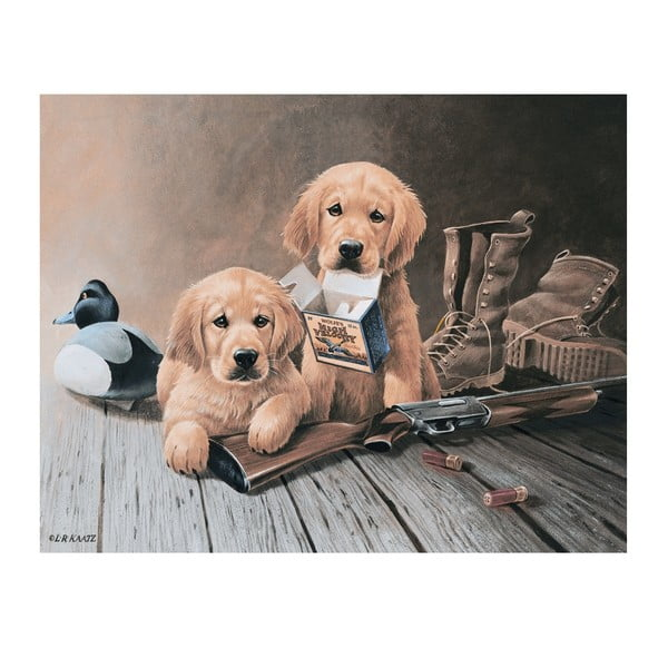 Plechová cedule Puppies