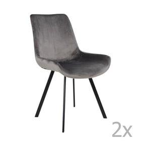 Set 2 scaune House Nordic Drammen, gri