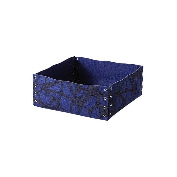 Plstěná krabička 12x6 cm, modrá