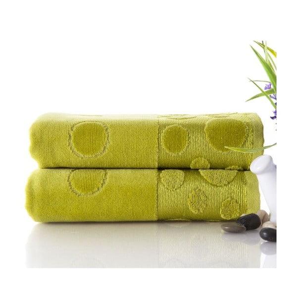 Sada 2 ručníků Tropical Green, 50x90 cm