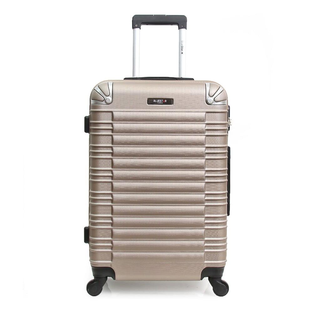 Béžový cestovní kufr na kolečkách Blue Star Lima, 60 l