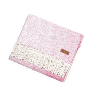 Pătură din lână de alpaca Hawke&Thorn Bradshaw Drift, roz