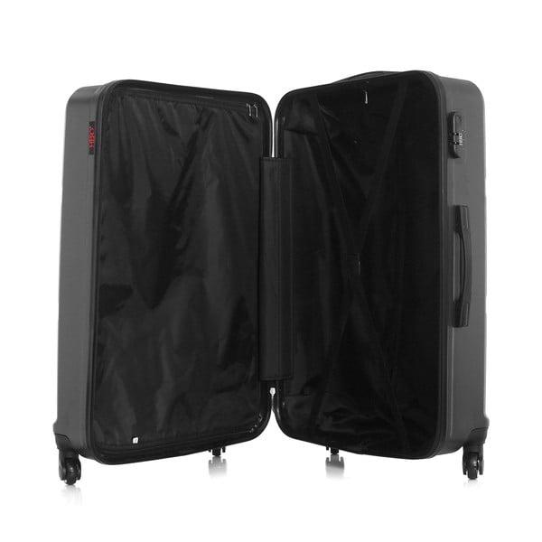 Tmavě šedý cestovní kufr na kolečkách Hero Utah, 97 l