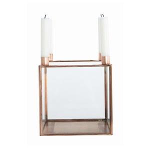 Svícen Copper, 20x22 cm