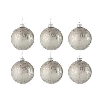 Set 8 globuri din sticlă pentru Crăciun J-Line Baub, ⌀ 8 cm, alb imagine