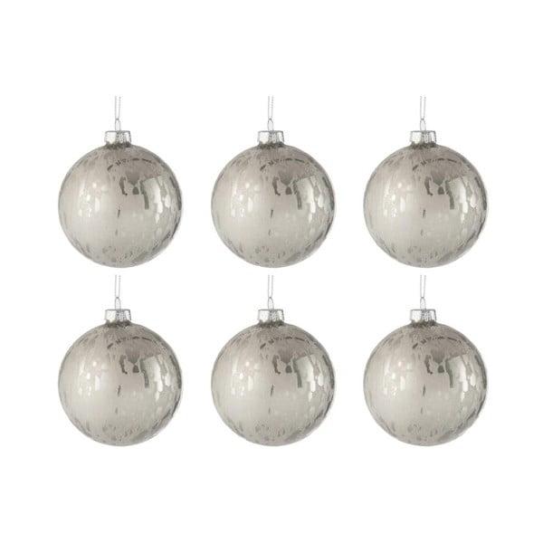 Baub 6 db-os fehér üveg karácsonyfadísz szett, ø 8 cm - J-Line