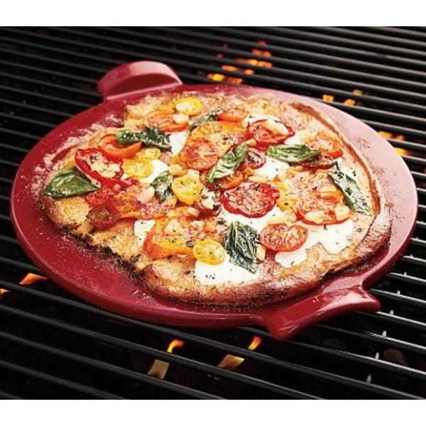 Emile Henry tác na pizzu, červený