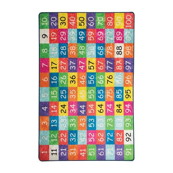 Detský koberec Numbers, 100 × 160 cm