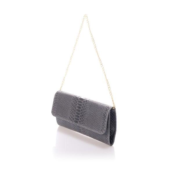 Tmavě šedá kožená kabelka Giorgio Costa Clutch