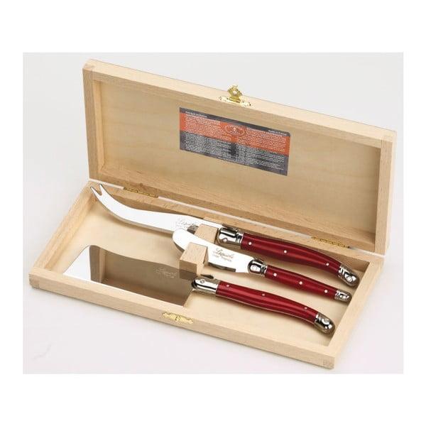 Set 3 nástrojů na sýry v dřevěném balení Jean Dubost Stainless