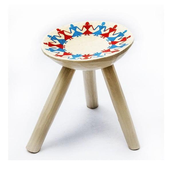 Ručně malovaná stolička Bod, 28 cm