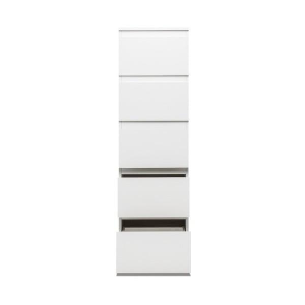 Comodă cu 5 sertare Intertrade Image, alb