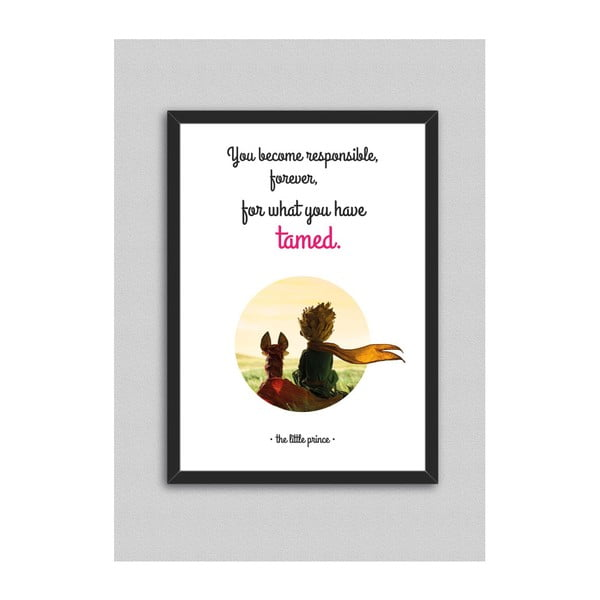 Obraz North Carolina Scandinavian Home Decors Little Prince Quote V8, 33x43 cm