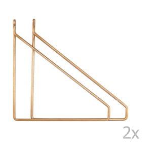 Set 2 suporturi metalice pentru fixat raftul House Doctor Apart, auriu