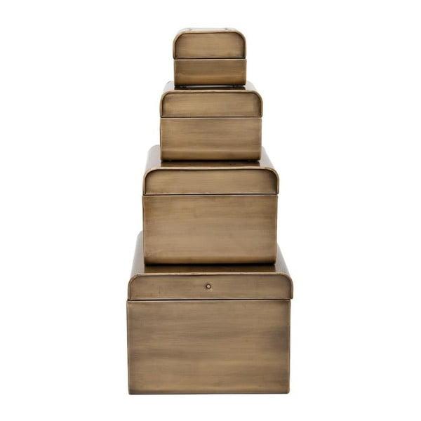Sada 4 boxů Awy Antique Brass